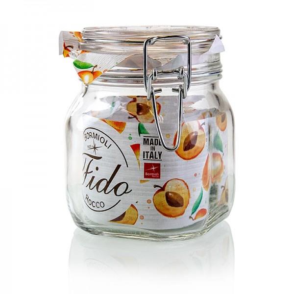 Fido - Drahtbügelglas - Fido 750 ml quadratisch