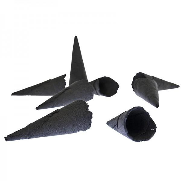 Sosa - Mini-Hörnchen - Waffelcornets salzig schwarz gefärbt ø 2.4x7.5cm Sosa