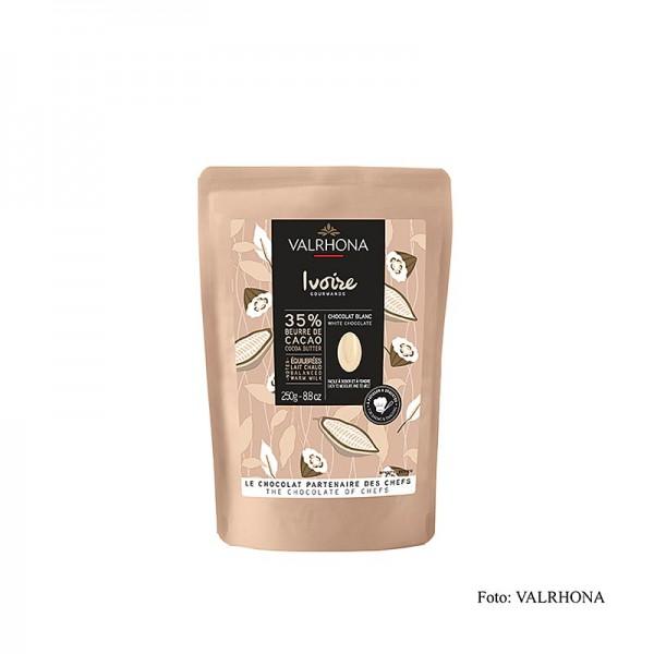 Valrhona - Valrhona Ivoire Weiße Schokolade 35% Callets