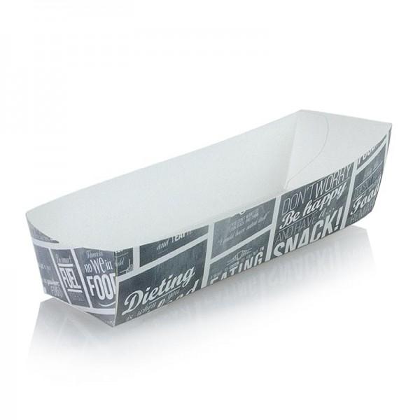 Deli-Vinos Kitchen Accessories - Wurstschale 185x33x35mm Pappe Kreide Konzept