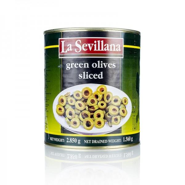 La Sevillana - Grüne Oliven in Scheiben in Lake