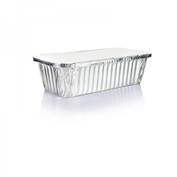 Deli-Vinos Kitchen Accessories - Aluschalen Einweg Rechteckig mit Deckel 5.4x11x21.3cm 1l Volumen