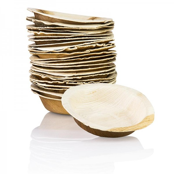 Deli-Vinos Kitchen Accessories - Einweg Palmblattteller rund ca. ø 12cm tief 100% kompostierbar