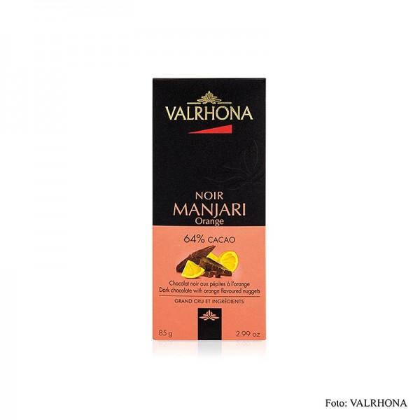 Valrhona - Manjari - Bitterschokolade mit Orangenstückchen 64% Kakao Madagaskar
