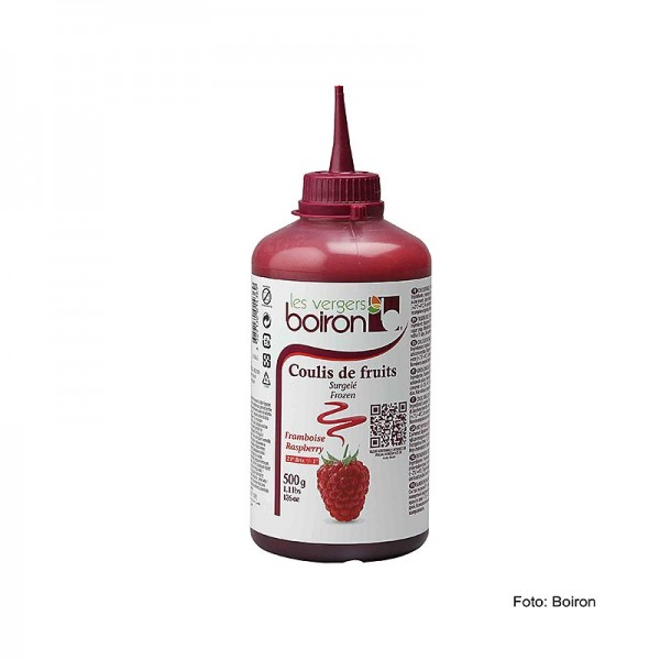 Les Vergers Boiron - Coulis Himbeer Sauce 19% Zucker Squeeze Flasche TK