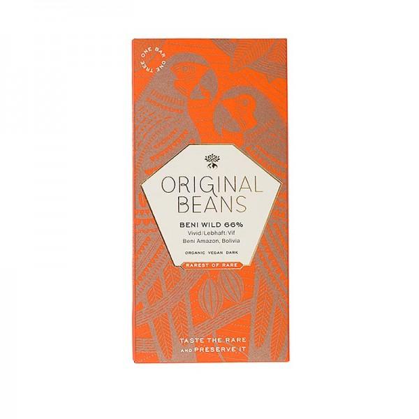 Original Beans - Beni Wild Harvest Bolivien 66% Bitter Schokoladentafel 70g Original Beans BIO