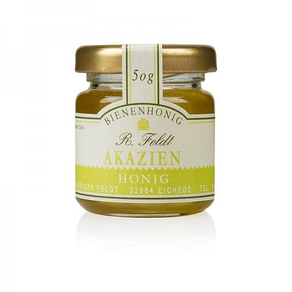 R. Feldt Bienenhonig - Akazien-Honig Ungarn hell goldfarben flüssig zart-lieblich Portionsglas