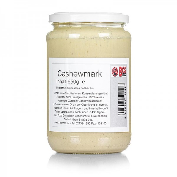 Bos Food - BOS FOOD Cashewkern-Mark 100% Mark ohne Zusatzstoffe