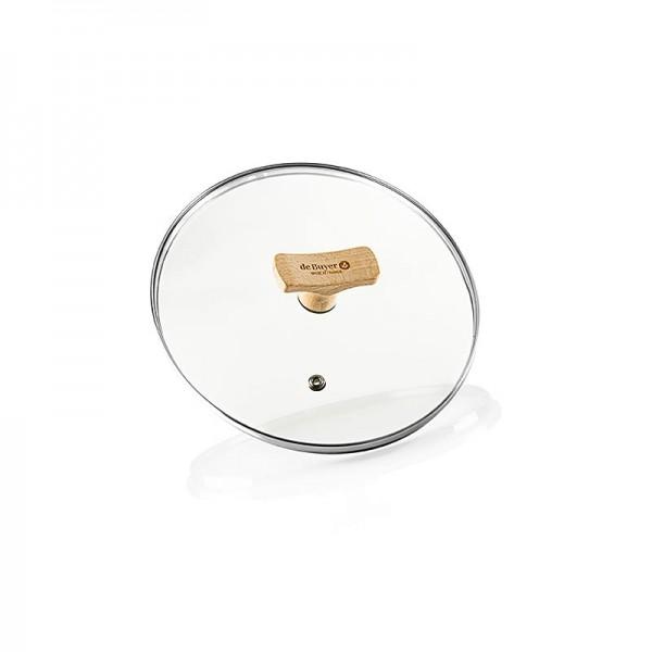 de Buyer - B Bois Universaldeckel aus Glas mit Buchenholzgriff Ø 20cm De Buyer