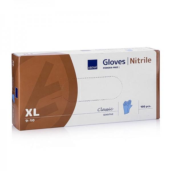 Abena - Einweghandschuhe Blau XL im Caddy (Nitril) nicht gepudert