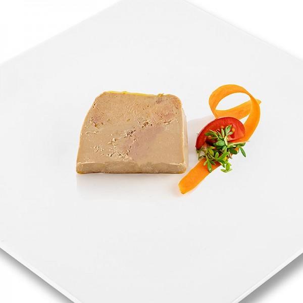 Rougie - Gänseleberblock mit Stücken 98% Foie Gras Trapez Halbkonserve Rougié