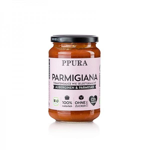 Ppura - Ppura Sugo Parmigiana - mit Auberginen Tomaten und Parmesan BIO