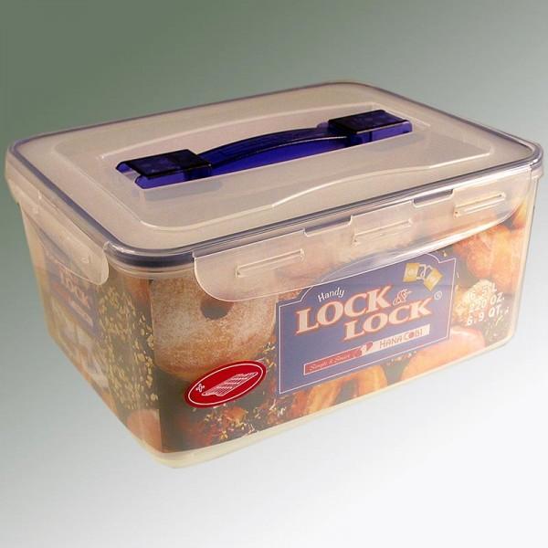 Lock & Lock - Frischebox Lock & Lock 6.5 l rechteckig 294x230x138 mm mit Griff&Ablaufgitter