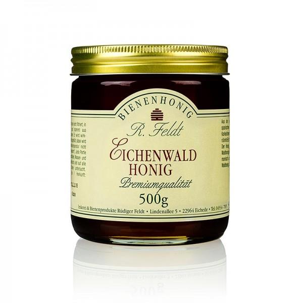 R. Feldt Bienenhonig - Eichenwald-Honig Spanien reiner Korkeichenbestand schwarz flüssig wenig süß