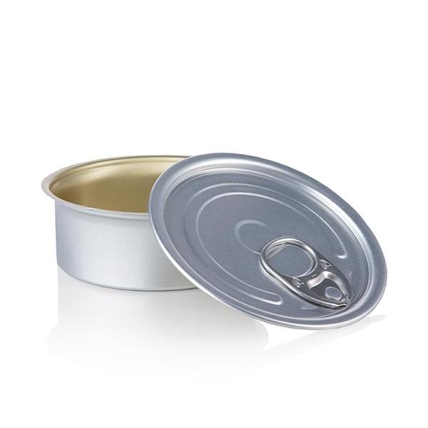 Deli-Vinos Kitchen Accessories - Dose mit Deckel zum Füllen rund ø 80x35mm 100ml Alu säurebeständig
