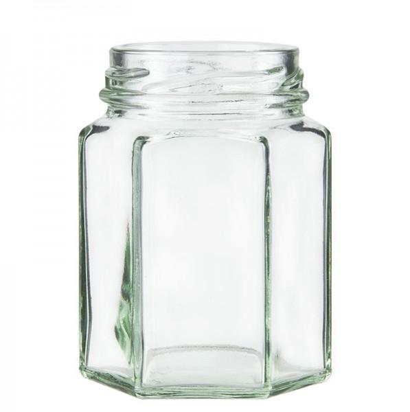 Deli-Vinos Kitchen Accessories - Glas sechseckig 110 ml ø 48mm Mündung ohne Deckel