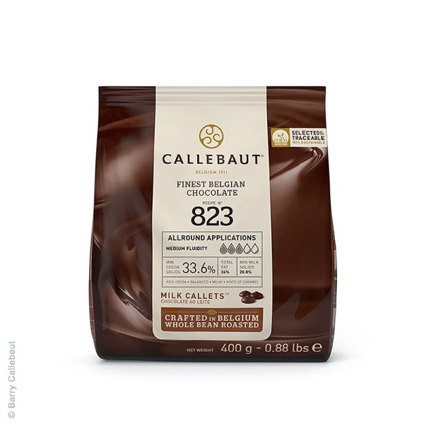 Callebaut - Vollmilch Schokolade (33.6%) Callets Couverture 400g Callebaut (823-E0-D94)