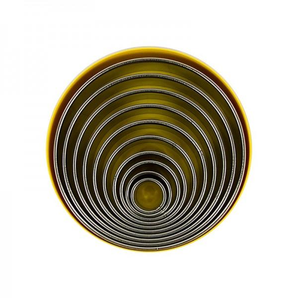 Deli-Vinos Kitchen Accessories - Edelstahl-Ausstecher Set rund glatt ø 2.2 - 14cm 3cm hoch