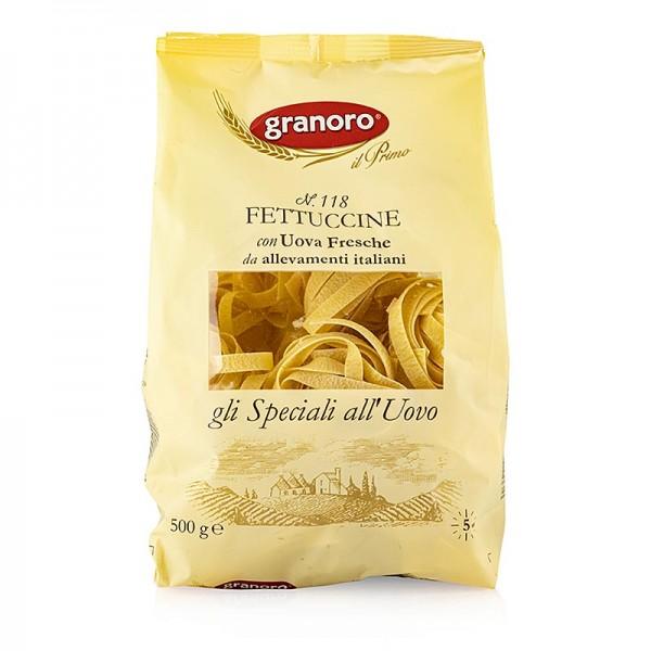 Granoro - Granoro Fettuccine mit Ei breite Bandnudel-Nester No.118