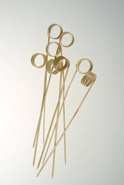 Deli-Vinos Kitchen Accessories - Bambus-Spieße mit Loop (Ringende) 12cm