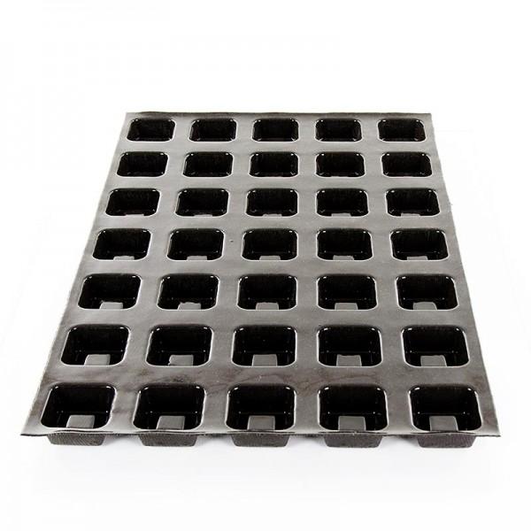 Flexipan - Flexipan Matte 60x40cm 35 quadratische Savarins 56x56mm 24mm tief.45ml,No.1105