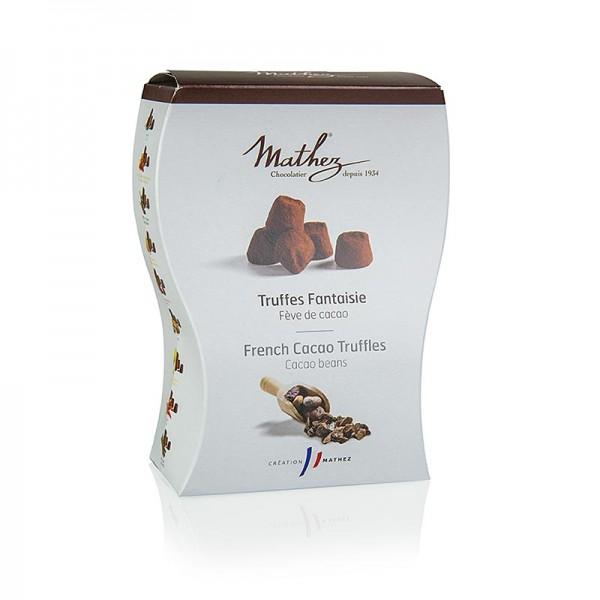 Mathez - Trüffelkonfekt - Pralinen mit Kakaobohnensplittern Mathez