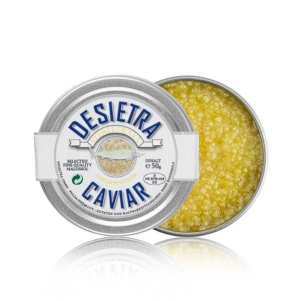 Desietra Sterletkaya - Desietra Selection Kaviar vom Albino-Sterlet Aquakultur Deutschland