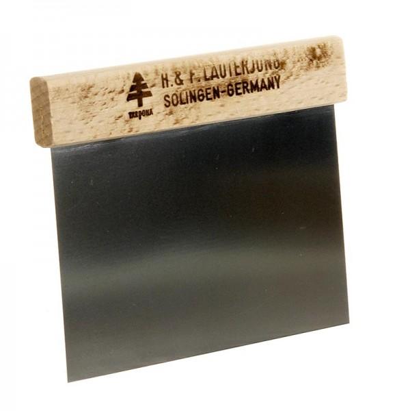 Deli-Vinos Kitchen Accessories - Teigschaber 12x11cm Edelstahlklinge mit Holzgriff