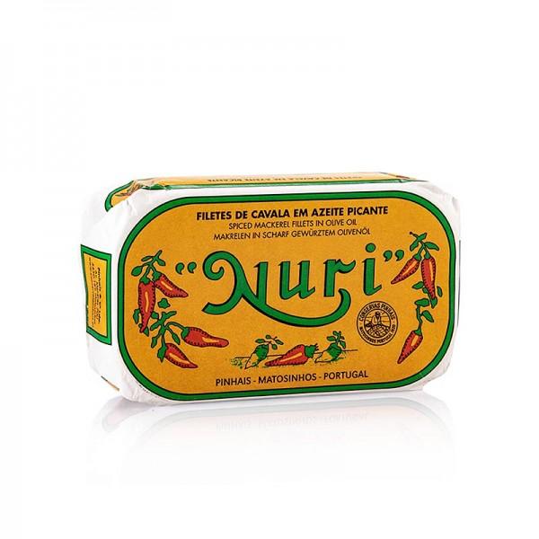 Nuri - Makrelenfilets in Olivenöl pikant 3-4 Stück Nuri (Portugal)
