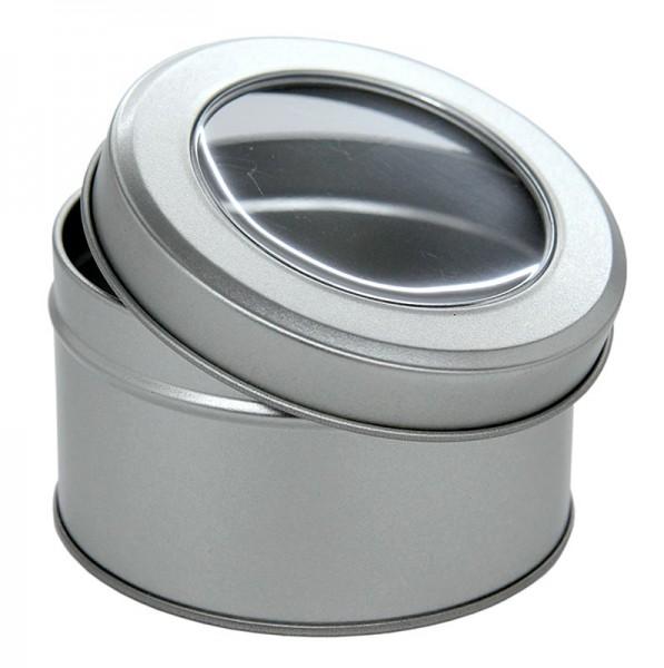Deli-Vinos Kitchen Accessories - Metalldose mit Sichtfenster ø 86mm 40mm hoch