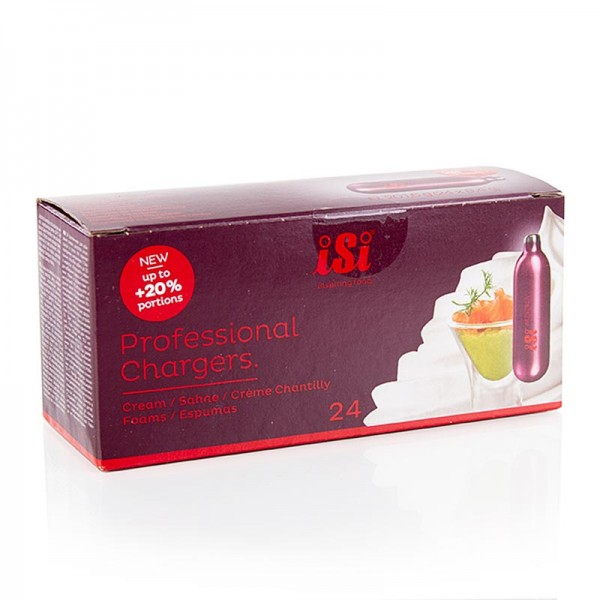 iSi - Einweg Sahnekapseln Espuma (Stickstoff) Professional Charger 24 Stück iSi