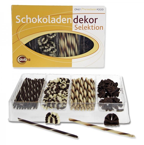 Deli-Vinos Patisserie - Schoko Dekorsortiment - Selektion 2 4 Sorten Cigarillos & Fächer