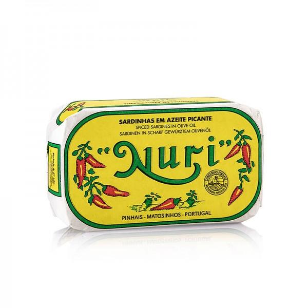 Nuri - Sardinen ganz in Olivenöl pikant 3-5 Stück Nuri (Portugal)