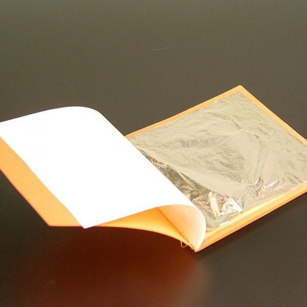 Goldgourmet - Silber - Blattsilber Heftchen 80 x 80 mm E174