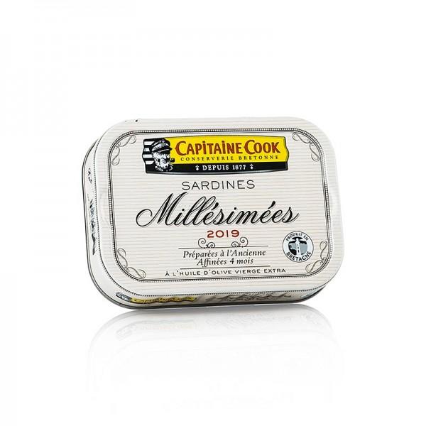 Capitaine Cook - Sardinen ganz in Olivenöl Jahrgang 2019 Frankreich