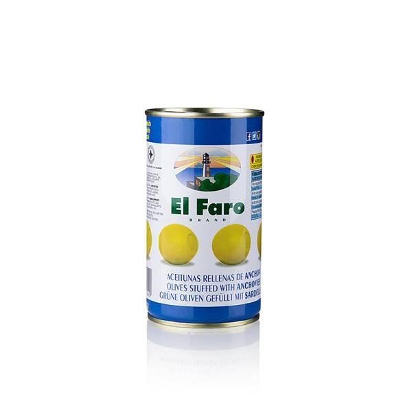 El Faro - Grüne Oliven mit Anchovis (Sardellen Füllung) in Lake El Faro