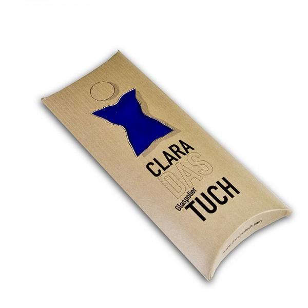 Clara - Glaspoliertuch Clara aus Microfaser blau