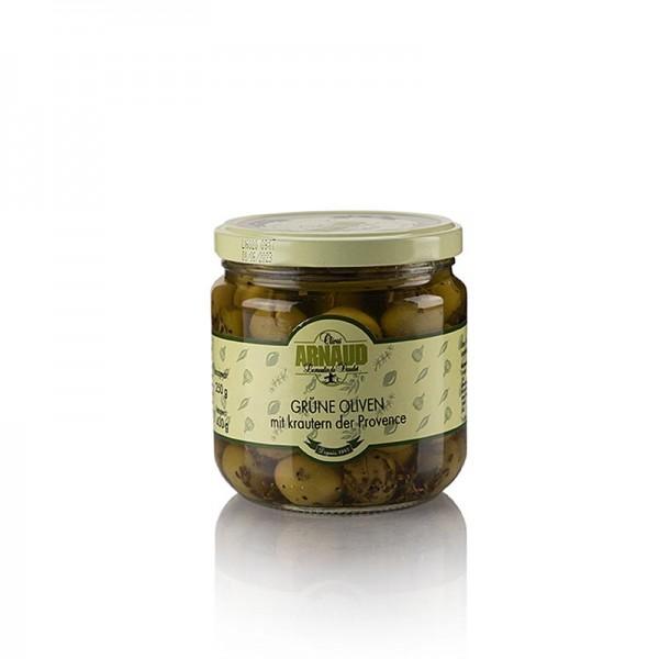 Arnaud - Grüne Oliven mit Kern mit Kräutern der Provence Arnaud