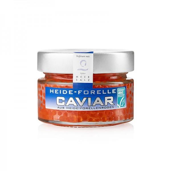 Heide Forelle - Heide Forellen Kaviar mit Sylter Meersalz orange-rot ASC