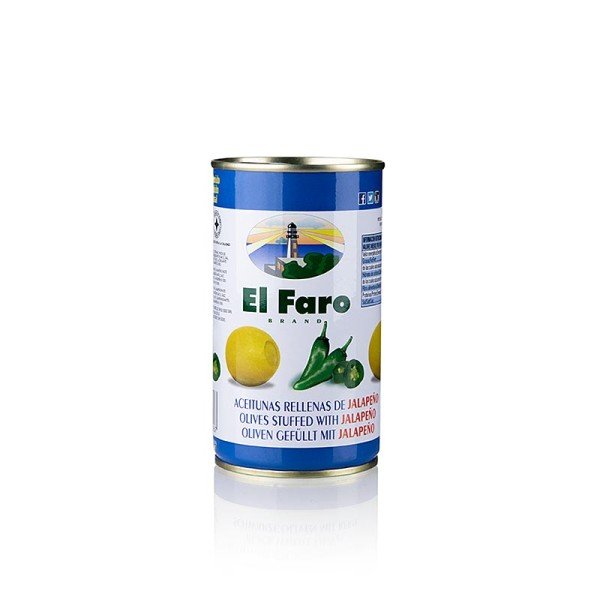 El Faro - Grüne Oliven mit Jalapano Chili Oliven in Lake El Faro