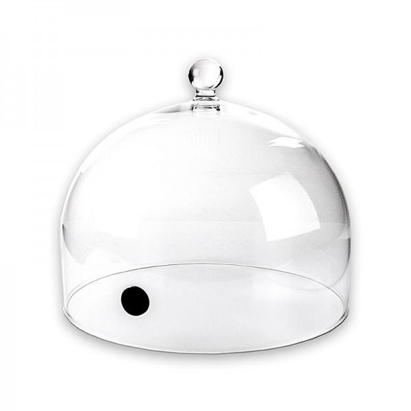 100% Chef - Aladin Glasglocke Rubi mit Ventil Ø 25cm für Aladin Räucherpfeife 100% Chef