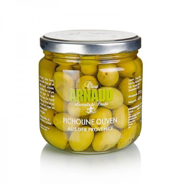 Arnaud - Grüne Oliven klein (Picholines) mit Kern Arnaud