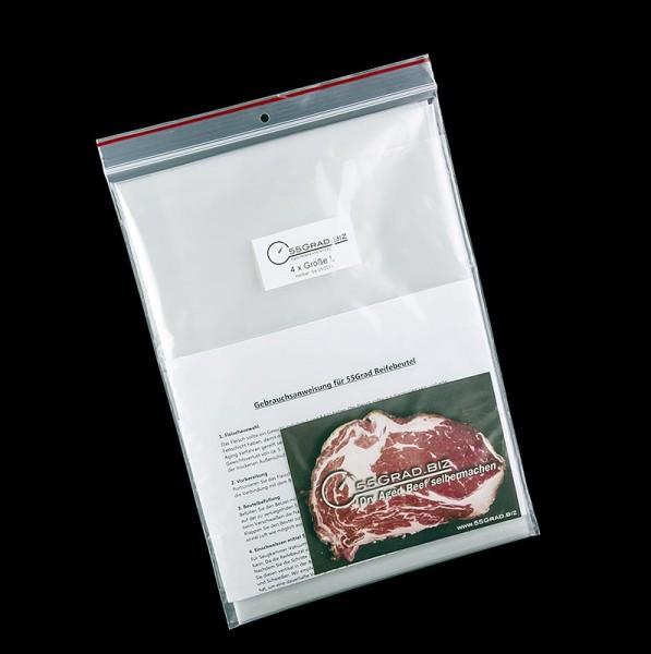 55GRAD - Membran-Reifebeutel Größe L 300x600mm für Dry Aged Beef 55GRAD