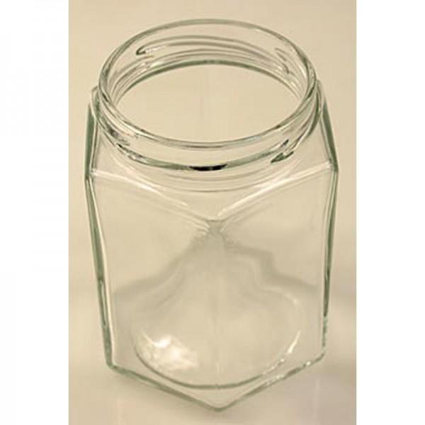 Deli-Vinos Kitchen Accessories - Glas sechseckig 287 ml 63mm Mündung ohne Deckel