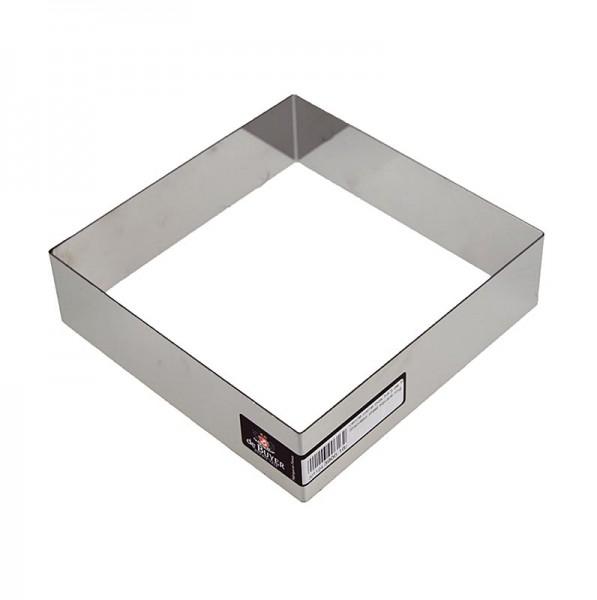 de Buyer - deBUYER Rahmen quadratisch Edelstahl 16 x 16cm 4.5cm hoch