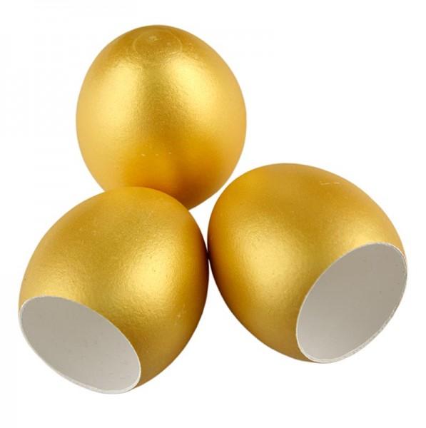 Deli-Vinos Kitchen Accessories - Leere Eierschalen gold zum Füllen