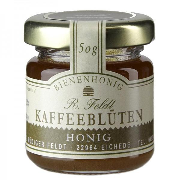 R. Feldt Bienenhonig - Kaffeeblüten-Honig Mexiko dunkel cremig mild-feinaromatisch Portionsglas
