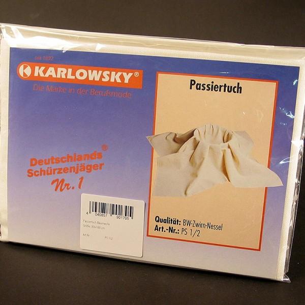 Karlowsky - Passiertuch (BW-Zwirn-Nessel) 80x100cm Mehrweg