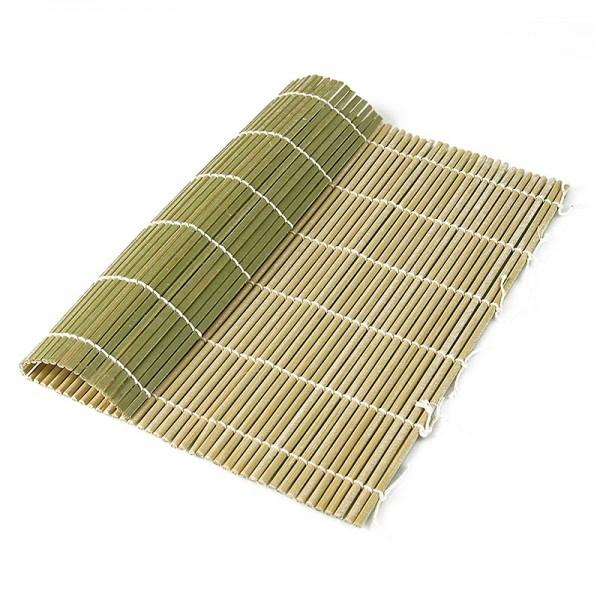 Deli-Vinos Kitchen Accessories - Bambus-Matte zur Sushi-Herstellung natur 21x24cm runde Stäbchen