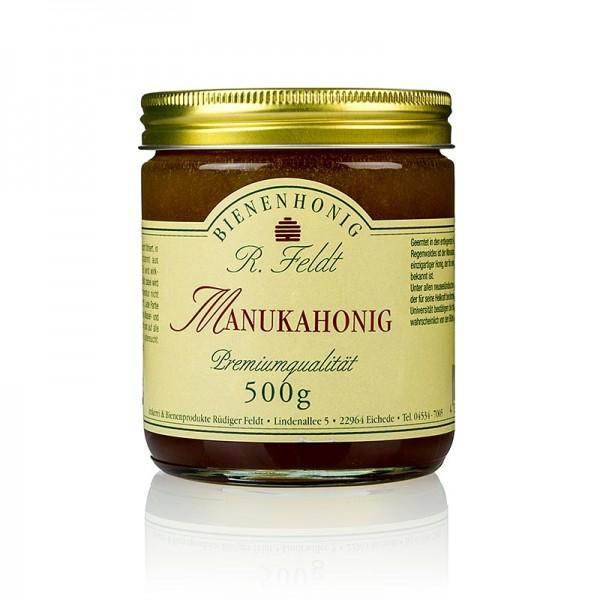 R. Feldt Bienenhonig - Manuka-Honig Neuseeland dunkel flüssig kräuterartig kräftig